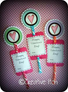 Pixie Stix Valentines ♥ ♥ ♥