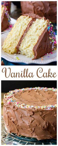 The Best Vanilla Cake RecipeYou can find Vanilla cake and more on our website.The Best Vanilla Cake Recipe Perfect Vanilla Cake Recipe, Homemade Vanilla Cake, Chocolate Cake Recipe Easy, Homemade Cakes, Chocolate Recipes, Small Cake Recipe For Two, Vanilla Cake Recipes, Vanilla Butter Cake Recipe, Best Yellow Butter Cake Recipe