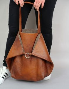 Large leather shoulder bag, Brown Slouchy Tote, Brown Handbag for Women, Soft Leather Bag, Every Da Large Leather Tote Bag, Soft Leather Handbags, Large Tote Bags, Canvas Leather, Leather Clutch, Brown Leather Totes, Black Leather, Capsule Wardrobe, Kate Spade