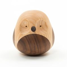 Perfect to put a smile on the face of any night owl :) Made from reclaimed timber. Discipline - Lars Beller Fjetland - re-turned owl ash Wooden Bird, Wooden Wall Art, Wood Art, Wooden Toys, Owl Home Decor, Cute Furniture, Furniture Legs, Nordic Lights, Vases