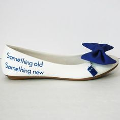 This, only heels. Nice and simple. <3 Doctor Who tardis wedding shoes by ElectriqueSole on Etsy, $50.00