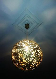 Weaving Ball Lamp by NaturaLiciousShop on Etsy