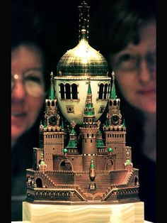 1906 Moscow Kremlin Egg   Gift: Nicholas II to Alexandra Fyodorovna Owner: Moscow Armoury Museum, Russia  Height: 36.1 cm