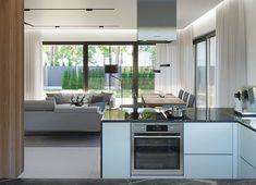 Projekt domu HomeKoncept-45 G2 118,49 m² - koszt budowy - EXTRADOM Home Fashion, Kitchen Island, House Plans, House Styles, Fresh, Home Decor, Simple House, Modern Townhouse, Island Kitchen