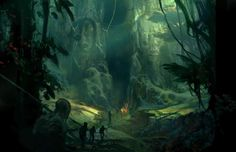 Trekking into the unknown   by unknown ~ { concept art }