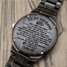 Perfect Gifts For Husband Engraved Wooden Watch Husband Love, To My Daughter, Love Gifts, Great Gifts, Diy Gifts, Special Gifts, Personalized Gifts For Dad, Engraved Gifts, Gifts For Fiance