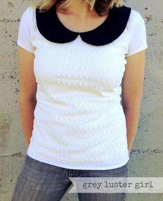 DIY Clothes Refashion: DIY Plain White Tee Shirt Refashion diy clothes diy refashion diy shirt