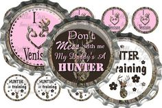 Camo Girl 2 Bottle Cap Images by WaresGraphics on Etsy, $1.75