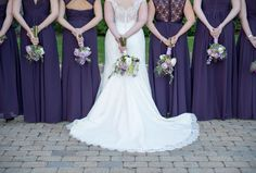 Bridesmaids from A Real Kleinfeld Paper Wedding || Dresses by Bill Levkoff from Here Comes the Bridemaids || http://www.bridesmaids.com/