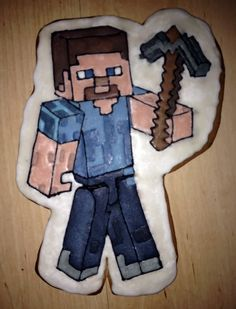 minecraft Steve cookie