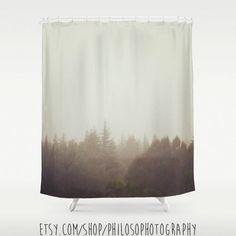 Woodland Fog Winter Shower Curtain Photography Photo Home Decor Forest Tree Surreal Dreamy Bathroom Gift Idea Foggy Mist Bath Tub Northwest by Philosophotography on Etsy https://www.etsy.com/listing/214345210/woodland-fog-winter-shower-curtain
