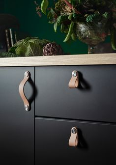 Leather-handles