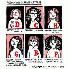 """Modern Day Scarlet Letters"" [Comic]"