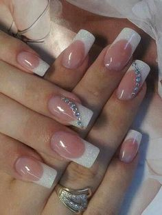 50 Top Best Wedding Nail Art Designs to Get Inspired Elegant Nails, Classy Nails, Stylish Nails, French Nails, French Manicure Nails, Simple Acrylic Nails, Bride Nails, Wedding Nails Design, Toe Nails