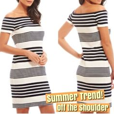 """DRESS SALE - Off-The-Shoulder Dress Gorgeous Fashion Union dress - off the shoulder square neck design. Very soft fabric. Perfect for many occasions. 16.5"""" pit to pit, 34"""" shoulder to hem. 95% polyester 5% elastine. Bought from ASOS ASOS Dresses"""