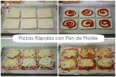 Pizza Rápida de Pan de Molde