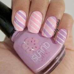 My first attempt at using striping tape! Love it! Also, ... - nailsbynikkih @ Instagram Web Interface - 5th village