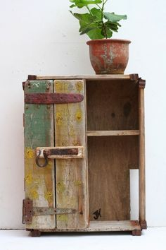 Driftwood Floor standing cupboard, upcycled industrial Designed by julia horberry Driftwood Flooring, Driftwood Furniture, Driftwood Wall Art, Rustic Wood Furniture, Driftwood Crafts, Refurbished Furniture, Wooden Crafts, Rustic Coat Rack, Scrap Wood Projects