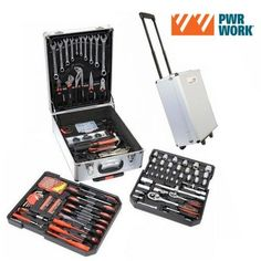 PWR WORK TOOL KIT ON WHEELS (186 TOOLS)