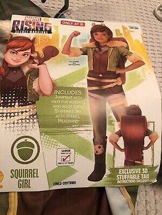 Halloween Costumes For Girls, Halloween Night, Spirit Halloween, Baby Halloween, Costume Halloween, Marvel Kids, Superhero Kids, Squirrel Girl, Secret Squirrel