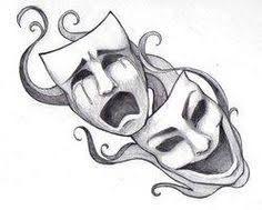 Bildergebnis für theatre masks tattoo