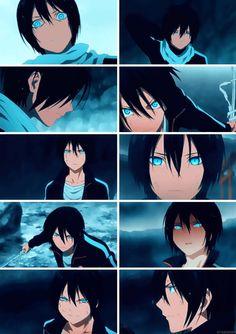 Los ojos más azules que he visto los tiene Yatogami-sama ♡♥♡