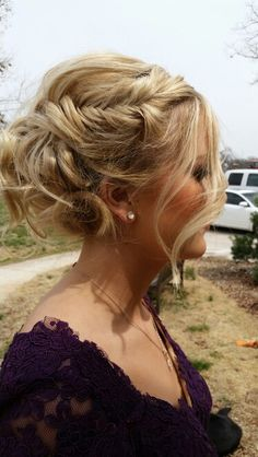 2015 updo style for prom or formals #prom #fishtail #loosecurls #hair by me! Pinterest worthy. Blake Lively inspired.