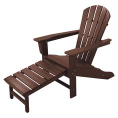 Palm Coast Adirondack Chair with Pull Out Ottoman -