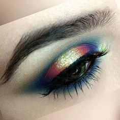 @SarahJeanMakeup (use code SARAHJEANMAKEUP for 20% off of your litcosmetics.com purchase) brings a POP of sparkle to this lovely look featuring @LitCosmetics #glitter in Ziggy Stardust (#LitZiggyStardustPerfectSparkle) and Barbie Shops (LitBarbieShopsPerfectSparkle) ! So fun!   by litcosmetics
