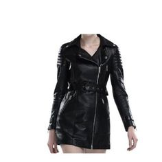 Women's Soft 100 % Lambskin Trench Biker Jacket ! (M) $289.00