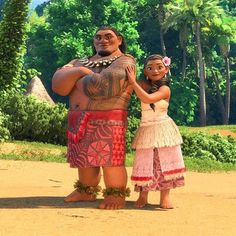 """Disney Film Facts on Twitter: """"First look! Moana's Father Chief Tui (voiced by Temuera Morrison) and mother (voiced by Nicole Scherzinger). https://t.co/qfqXXVr1Uo"""""""