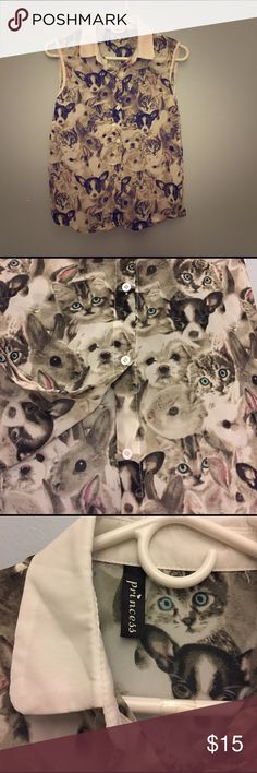 Rain of cats and dogs blouse size XS Fit XS the best. Although I'd say Small can fit as well. Meant for a friend, but it didn't fit her. No tag but it's New! Not listed brand* Blackmilk Tops Blouses