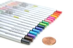 Uni Style Fit Single Color Slim Gel Ink Pen - 0.38 mm - Green - UNI UMN13938.6