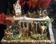 Halloween Village Display / Lemax Spooky Town - Dept 56 Halloween Village / - Platform Base for Sale on Ebay
