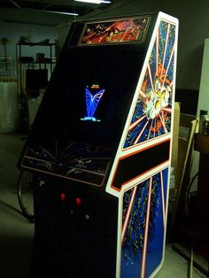 """Atari's Tempest - the high-adrenaline arcade machine smash from ""Superzapper Recharge! Vintage Video Games, Classic Video Games, Retro Video Games, Arcade Game Room, Retro Arcade Games, Old Games, News Games, Tempest Video Game, Video Game Machines"