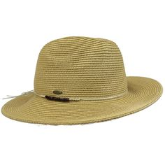 ad0eb88d8cd H-6112-32 Wood Bead Panama Hat - Natural. GREAT LOOK  Throw