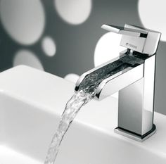 waterfall faucets | Modern Waterfall Faucet Design Bathroom Appliances With Open Top ...