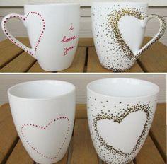 Tassen gestalten persönlich ich liebe dich Herzen