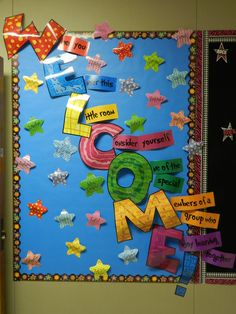 Welcome Bulletin Board Pinterest | ... board will change as the months do this is my welcome board pinterest