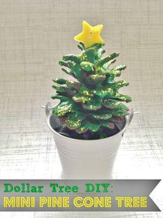 DIY Holiday Pine Cone Tree Craft