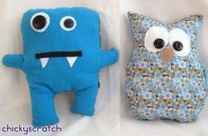 Gift idea: make a simple stuffed animal to give a child along with a book via chickyscratch.com