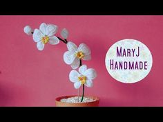 How to crochet an orchid | Part 2 - YouTube