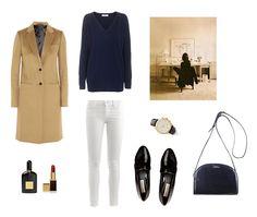 Minimal + Classic: camel coat x navy x loafer