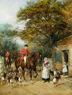 """""""The Tollgate"""" von Heywood Hardy (geboren am 25. November 1842 in Chichester, gestorben im Jahr 1933 in West Sussex), englischer Maler und Grafiker des Spätimpressionismus."""