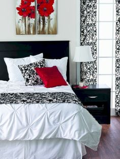 Red Black And White Bedroom Ideas Modern House Design