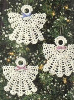 Free Christmas Angel Ornaments Crochet Pattern
