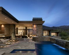 Pass Residence, Contemporary Pool, Phoenix