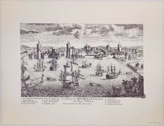 View of the city of La Rochelle, capital of Aunis, by Aveline, late 17th century FR AD17 1 Fi La Rochelle 131