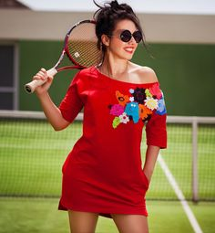 Cool #red #oversize #dress Demetra made by #ojfashion #oj #Ukraine.