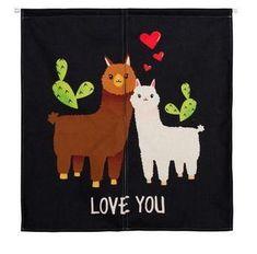 Cute alpaca shading curtain